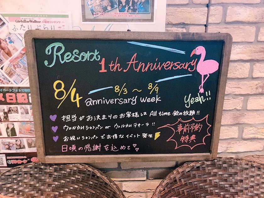 Resort 1周年記念🌟